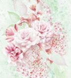 Blumarine Home Collection No. 2 Wallpaper Panel Profumo di Rose Crystal BM25212 or 25212 By Emiliana For Colemans
